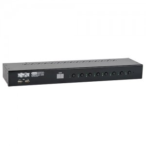 8 Port 1U Rack Mount DVI USB KVM Switch Audio 2 port USB Hub