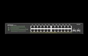 NETGEAR® S350 Series 24-Port Gigabit PoE+ Ethernet Smart Managed Pro Switch with 2 SFP Ports