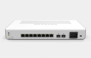 Netgear Insight Managed 8-Port Gigabit Ethernet PoE+ Smart Cloud Desktop/Rackmount Switch w/2 SFP Fiber Ports (134W) - GC510P