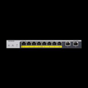 NETGEAR 8-Port Gigabit PoE+ Ethernet Smart Managed Pro Switch with 2 Copper Ports and Cloud Management (GS110TPP)