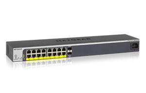 ProSAFE® Easy Mount 16-Port 10/100/1000 PoE+ Smart Switch with 2 Gigabit SFP Ports
