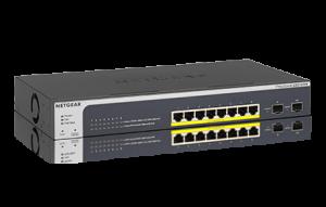 ProSAFE® 8-Port 10/100/1000 PoE+ Smart Switch with 2 Gigabit SFP Ports