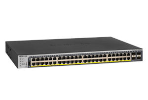 48-Port Gigabit PoE+ Smart Managed Pro Switch with 4 SFP Ports (GS752TPP)