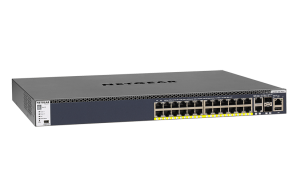 24x1G PoE+ Stackable Managed Switch with 2x10GBASE-T and 2xSFP+ (550W PSU)