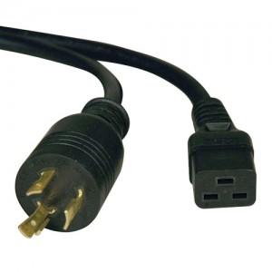 Heavy Duty Power Cord for PDU UPS 20A 12AWG IEC 320 C19 to NEMA L6 20P 10 ft