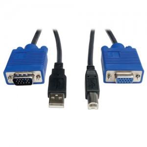 USB Cable Kit KVM Switch B006 VU4 R 10 ft