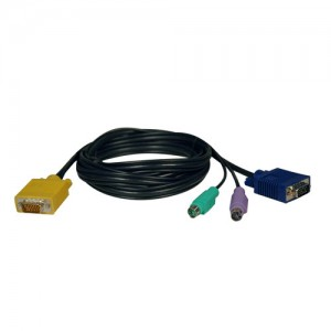 PS 2 3 in 1 Cable Kit NetDirector KVM Switch B020 Series KVM B022 Series 6 ft
