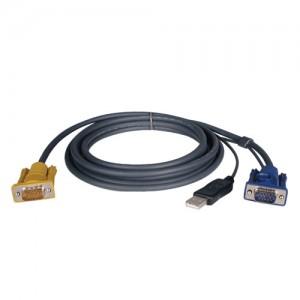 USB 2 in 1 Cable Kit NetDirector KVM Switch B020 Series KVM B022 Series 6 ft