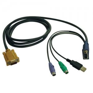 USB PS2 Combo Cable NetDirector KVM Switch B020 U08 U16 10 ft