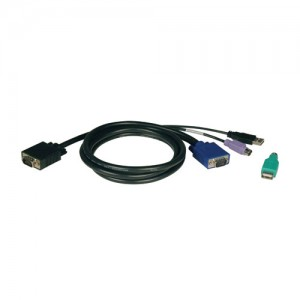USB PS2 Combo Cable Kit for NetController KVM Switches B040 Series B042 Series 15 ft