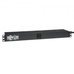 2.4kW Single Phase Basic PDU 120V Outlets 13 5 15 20R L5 20P 15ft Cord 1U Rack Mount