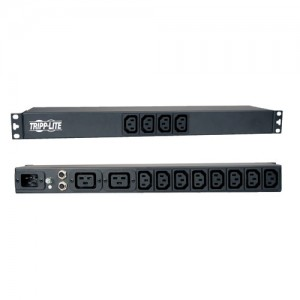 1.6 3.8kW Single Phase Basic PDU 100 240V Outlets 12 C13 2 C19 C20 16A Inlet 1U Rack Mount