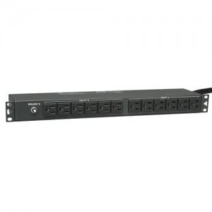 2.9kW Single Phase Basic PDU 120V Outlets 24 5 15R L5 30P 15ft Cord 1U Rack Mount