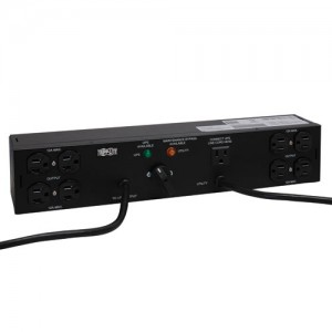 1.44kW Single Phase Hot Swap PDU 120V 15A Outlets 8 5 15R 2 5 15P 10ft 6ft Cords 2U Rack Mount