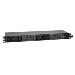 5 5.8kW Single Phase Basic PDU 208 240V Outlets 10 C13 L6 30P 12ft Cord 1U Rack Mount