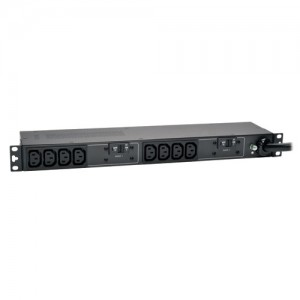 7.4kW Single Phase Basic PDU 230V Outlets 10 C13 IEC309 32A Blue 12ft Cord 1U Rack Mount