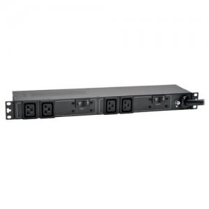 7.4kW Single Phase Basic PDU 230V Outlets 4 C19 IEC309 32A Blue 12ft Cord 1U Rack Mount