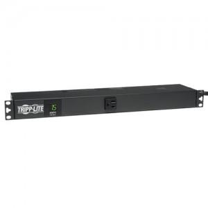 1.4kW Single Phase Metered PDU 120V Outlets 13 5 15R 5 15P 100 127V input 6ft Cord 1U Rack Mount