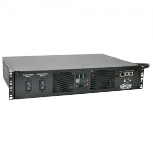 TAA Compliant 7.4kW Single Phase ATS Switched PDU 230V Outlets 16 C13 2 C19 2 IEC309 32A Blue Cords 2U Rack Mount