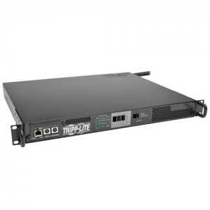 3.7kW Single Phase 230V ATS Monitored PDU IEC309 16A Blue Outlet 2 IEC309 16A Blue Inputs 1U Rack Mount