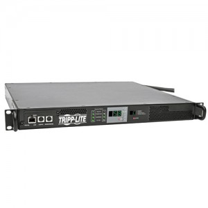 5.8kW Single Phase 208 240V ATS Monitored PDU L6 30R Outlet 2 L6 30P Inputs 1U Rack Mount