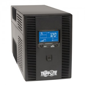 SmartPro LCD 120V 1500VA 900W Line Interactive UPS AVR Tower LCD USB 10 Outlets