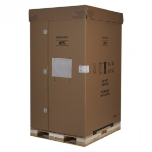 NetShelter SX 45U 600mm Wide x 1200mm Deep Enclosure with Sides Black -2000 lbs. Shock Packaging