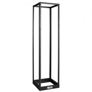 45U SmartRack 4 Post Open Frame Rack 1000 lb Capacity Organize Secure Network Rack Equipment