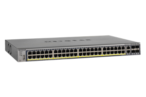 48 ports Gigabit PoE+ 802.3at, Layer 2+ software package