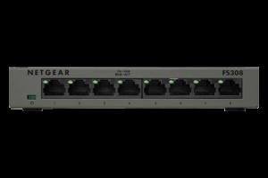 Netgear 8-Port 10/100Mbps Fast Ethernet Switch - FS308