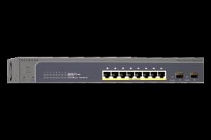ProSAFE® 8-Port 10/100/1000 POE Smart Switch with 2 Gigabit SFP Ports