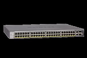 Netgear Gigabit Stackable Smart Switch (48 GE ports, 4 10G ports, PoE+) - S3300-52X-POE